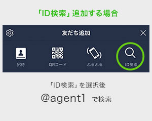 「ID検索で追加する場合」のイメージ画像